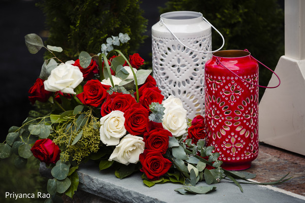 Floral design details for the Indian wedding