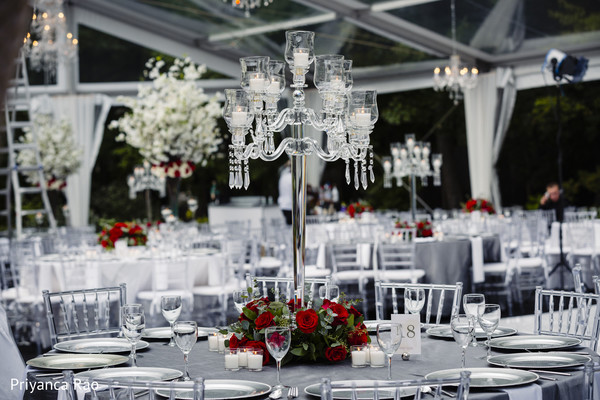 Indian wedding center piece design