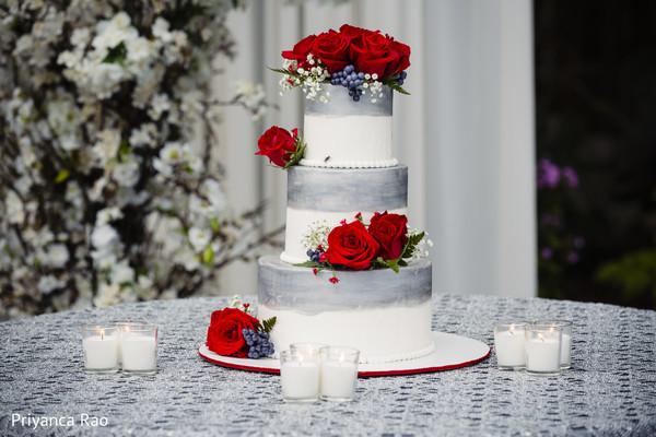 Delicious Indian wedding cake