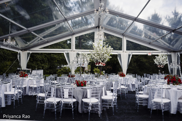 Over the top Indian wedding reception venue