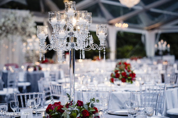 Majestic Indian wedding reception venue decor