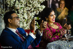 Scenes from the Indian wedding reception
