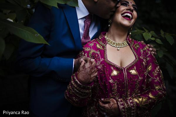 Smiling Maharani with Raja during photo shoot