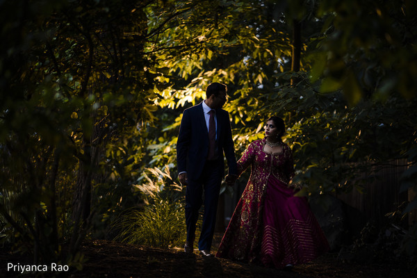See this talented shot of Indian newlyweds