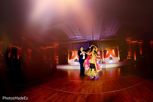 Incredible Indian wedding reception dance photo.