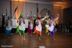 Incredible Indian wedding reception dancers.