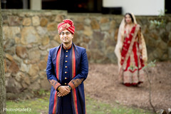 Indian groom waiting for bride.