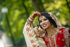 Maharani showing her tikka.