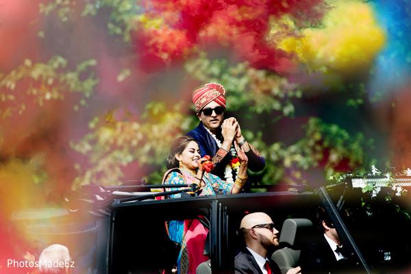 Incredible Indian wedding baraat procession.