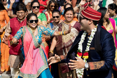Perfect baraat celebration capture.