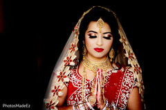 Indian bride ready for her ceremony.