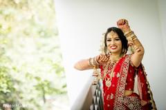 Joyful Indian bride outdoors capture.