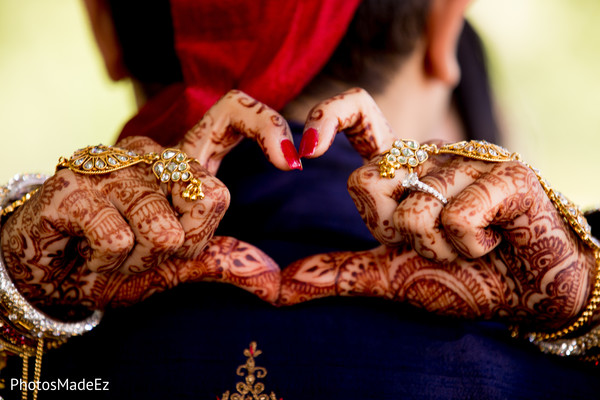 Marvelous photo of Maharani's mehndi art.