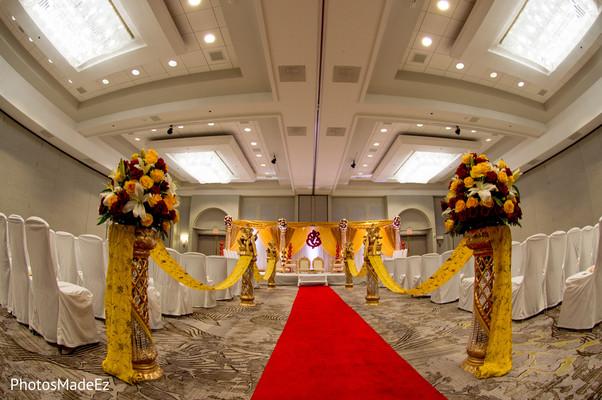 Marvelous Indian wedding ceremony aisle decoration.