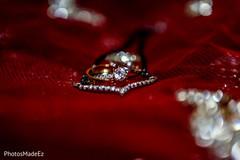 Closeup capture of Indian wedding rings.