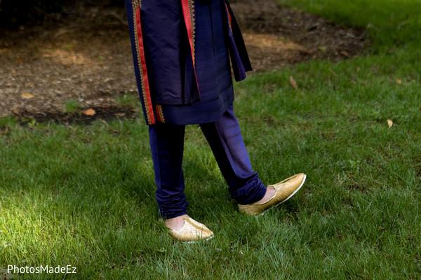 Elegant Indian groom's shoes.