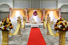 Magnificent Indian wedding ceremony decoration.