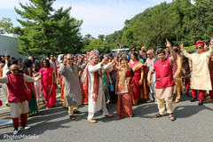 Marvelous Indian baraat outdoors capture.