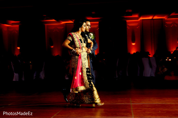 Incredible Indian bride and groom reception dance.