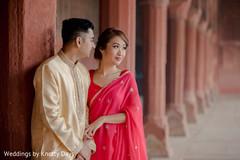 Beautiful Maharani posing with Indian bride