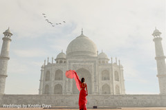 Over the top capture of Maharani by the Taj Mahal