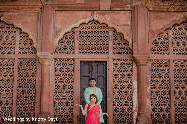 Maharani and Indian groom posing for the photo shoot