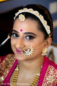 Dazzling Maharani looking at the camera