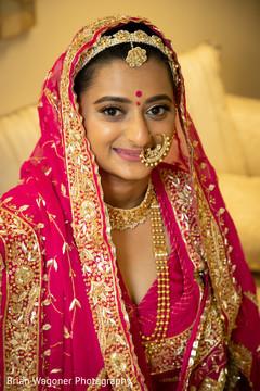 Portrait of beautiful Maharani prior to the ceremony