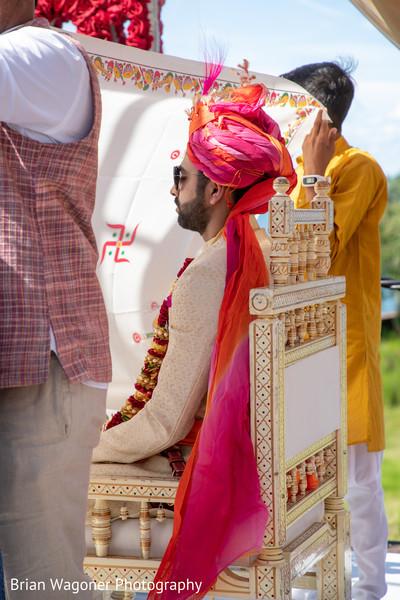 Indian groom waiting for Maharani