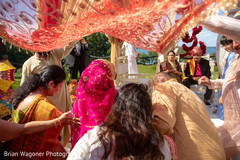 Maharani making her entrance to the ceremony