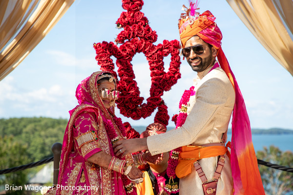 See this Indian groom and bride during the ceremony