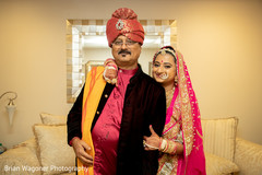 Indian bride with her father