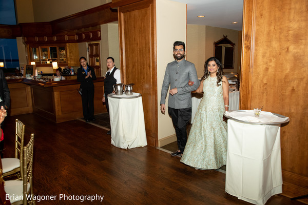 Indian lovebirds at the reception
