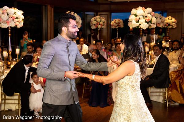 Lovely moment between Maharani and Raja at the reception