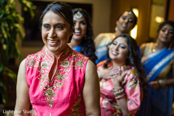 Indian bridesmaids getting ready capture.