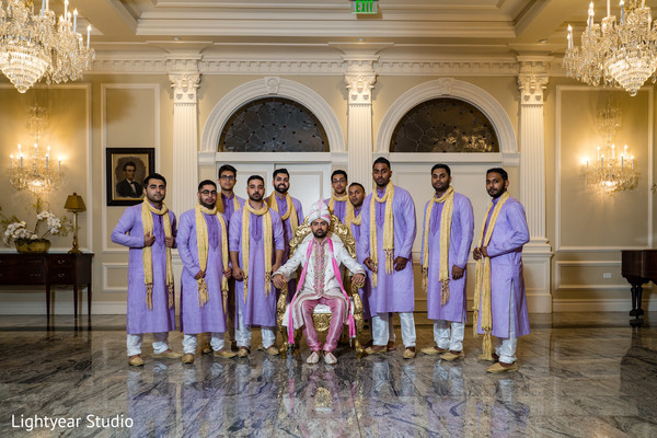 Magnificent Indian groom and groomsmen capture.