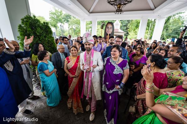 Rajah at his baraat ritual celebration.