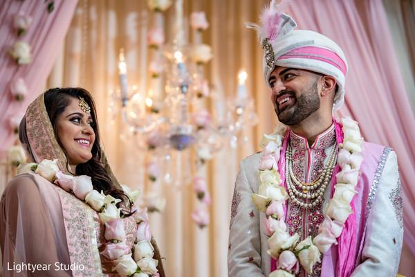 Maharani and  rajah during ceremony capture.