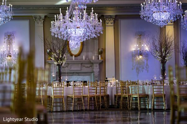 Amazing indian wedding reception decor.