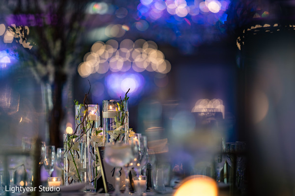 Amazing Indian wedding reception candles decor.
