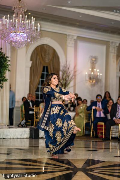 Joyful Indian guest dance performance.