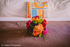 Incredible colorful Indian bridal bouquet.