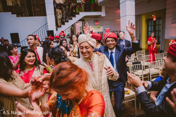 Upbeat Indian baraat celebration.