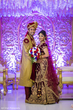 Ravishing Indian couple looking flawless