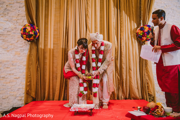 See this traditional Indian wedding ceremony ritual.