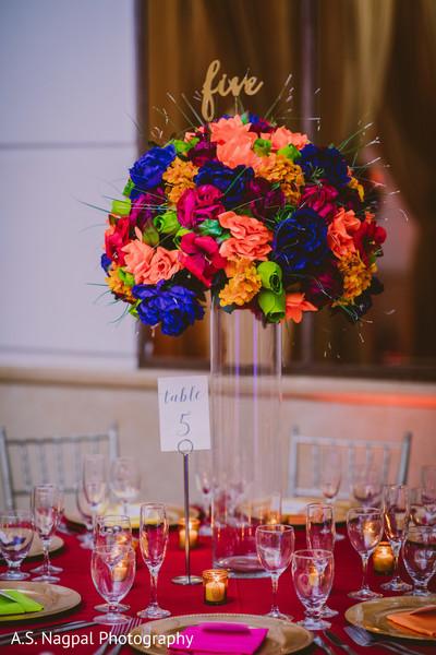 Elegant Indian wedding table decoration.