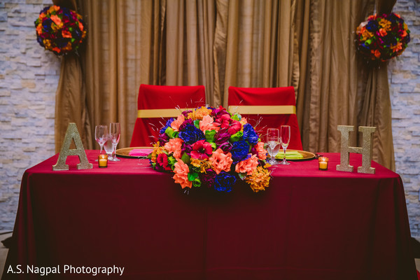 Indian wedding table for the Indian couple.