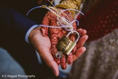 Indian wedding personalized lock.