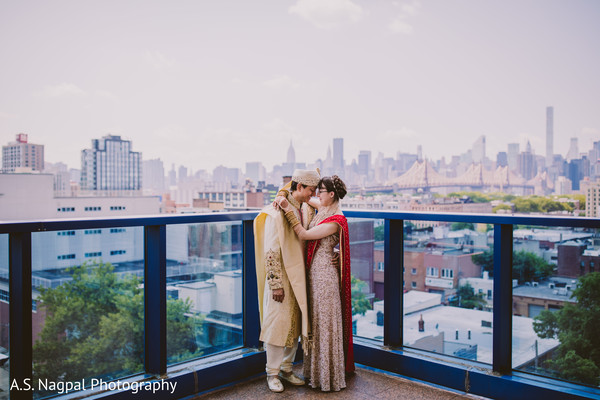 Romantic Indian bride and grooms outdoors photo shoot.