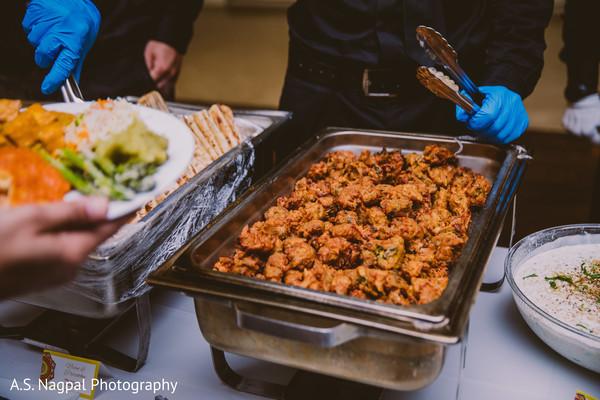 Indian wedding buffet food photo.